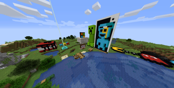 Minecraft Pocket Edition Screenshot of Game