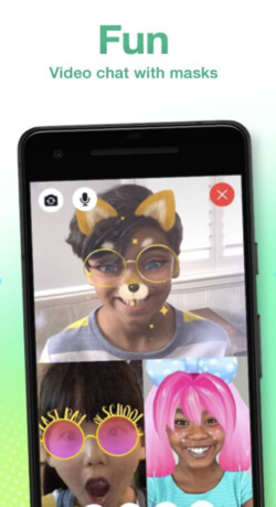"""Screenshot of Snapchat ad that says """"Fun Video Chat with masks"""""""