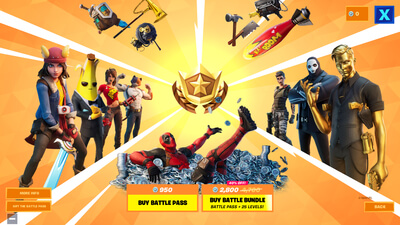 Screenhot of Fortnite Battle Royale with characters