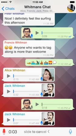 WhatsApp Chat example