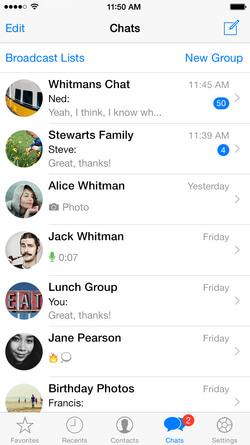 WhatsApp groups list example
