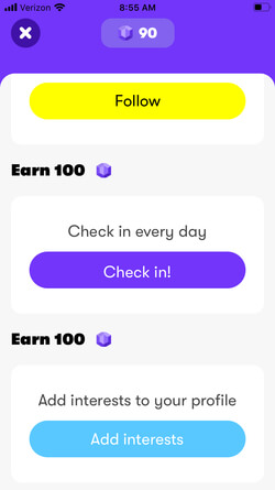 Wink app points