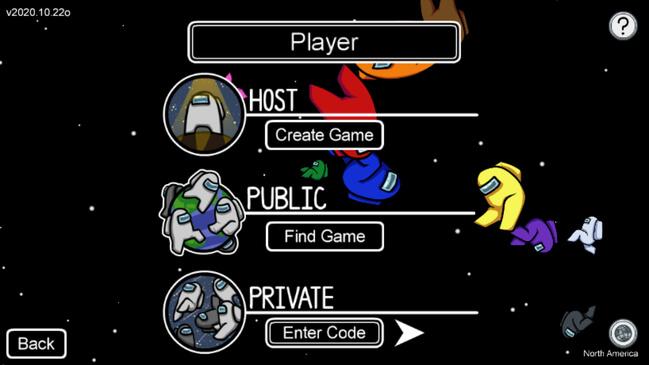 Among Us app play options
