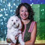Shari Smith headshot with dog