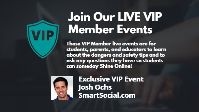 Join our live VIP Member Events!