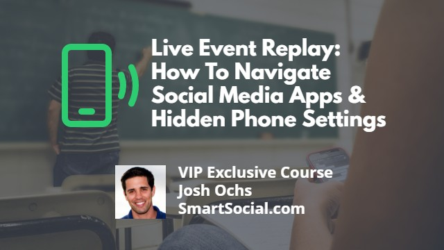 Student Devices: Parental Control Setup for iPhone, iPad, Android, Chromebook, & More VIP Exclusive Course by Josh Ochs SmartSocial.com