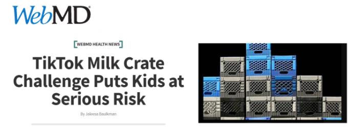 Web MD Milk Crate Challenge Tikok Milk Crate Challenge Puts Kids at Serious Risk