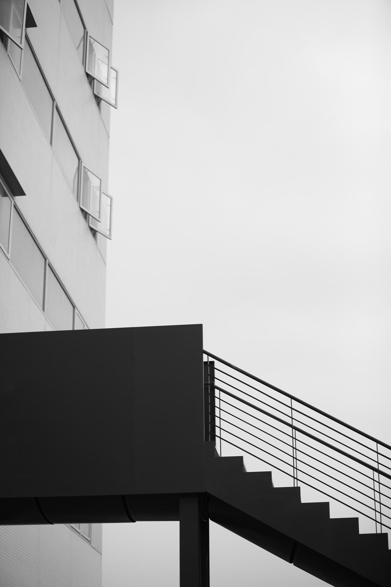 竹北惠友遠見大樓樓梯外觀