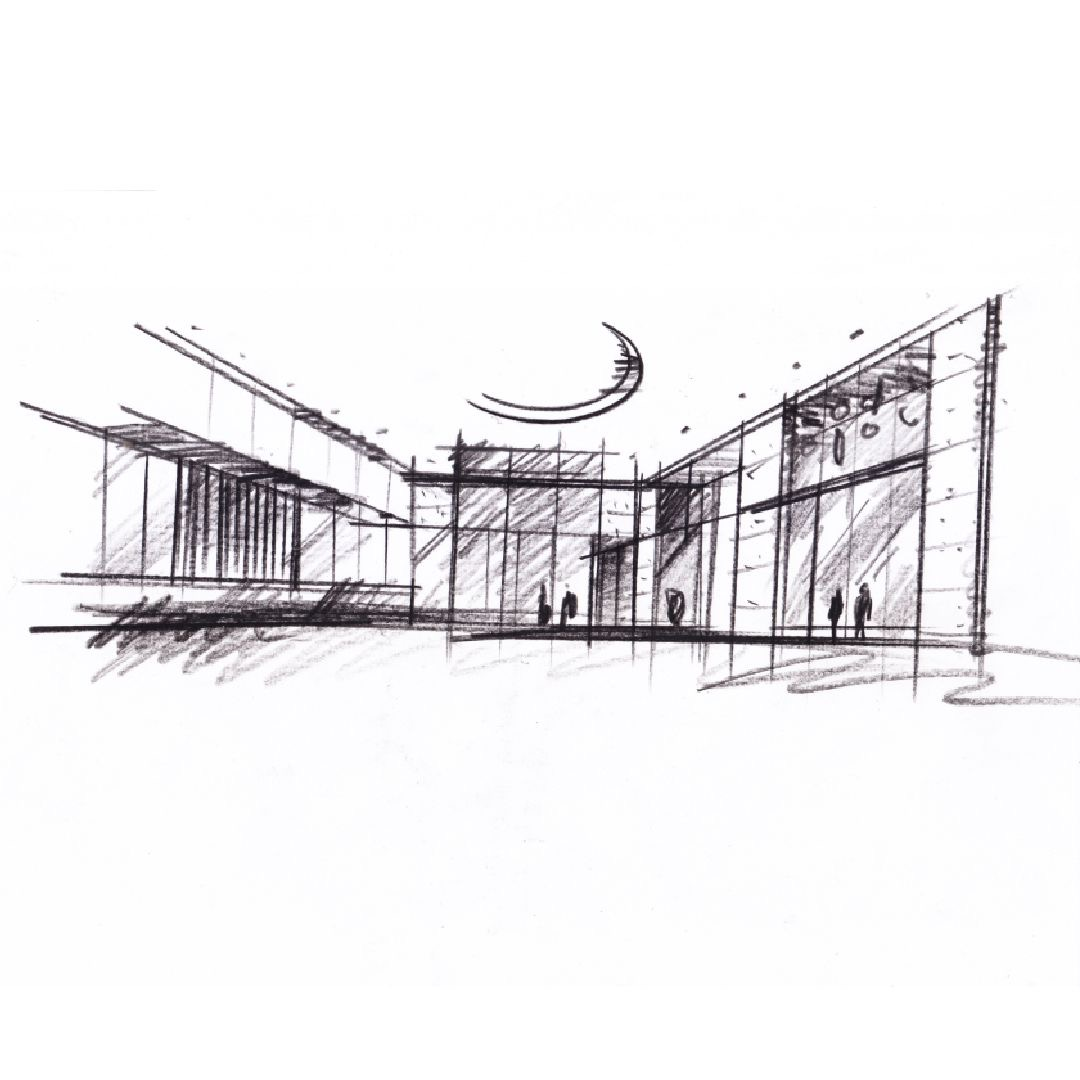 極上惠友設計手稿. Architectural hand-sketch