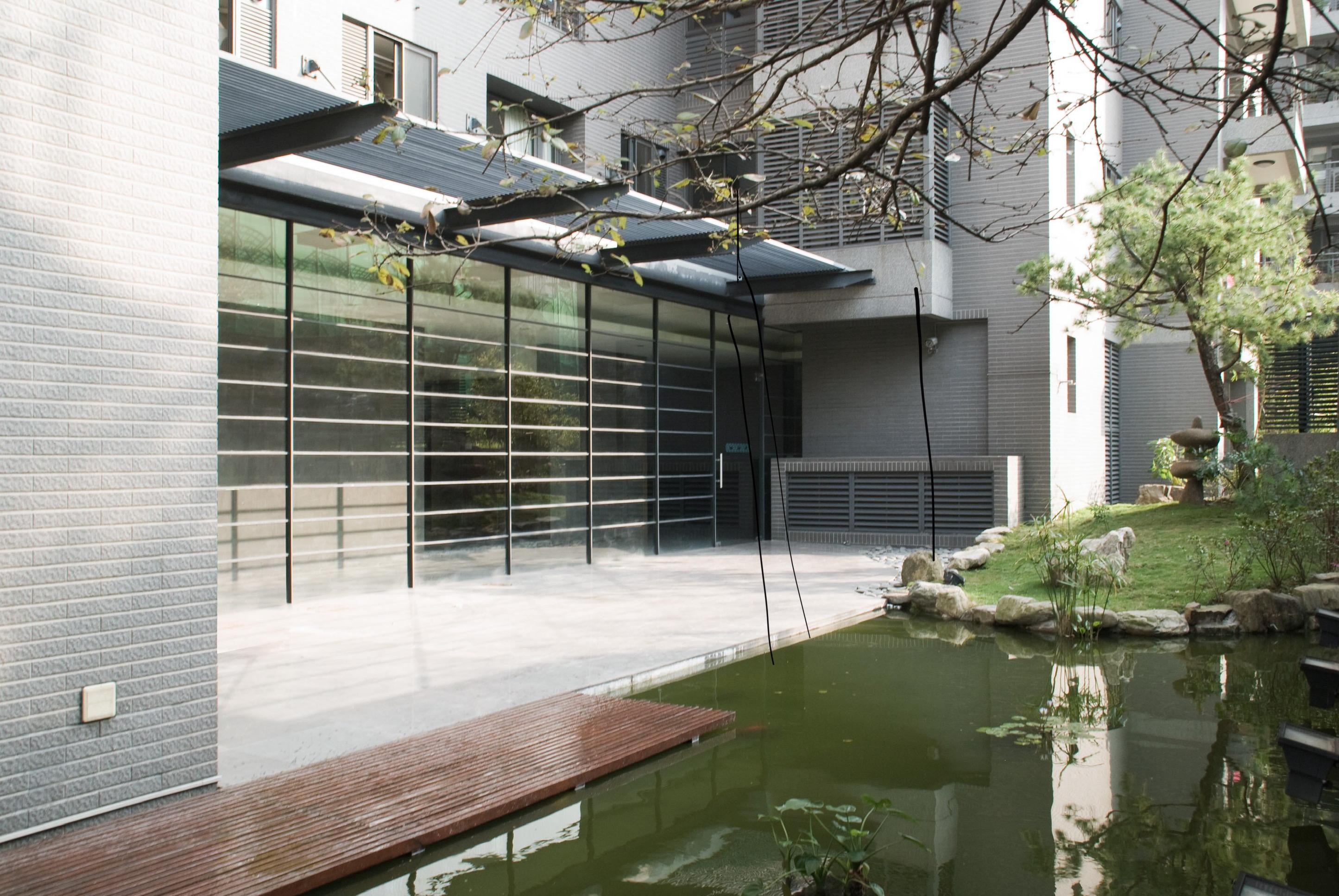台中興大奇美庭院水池