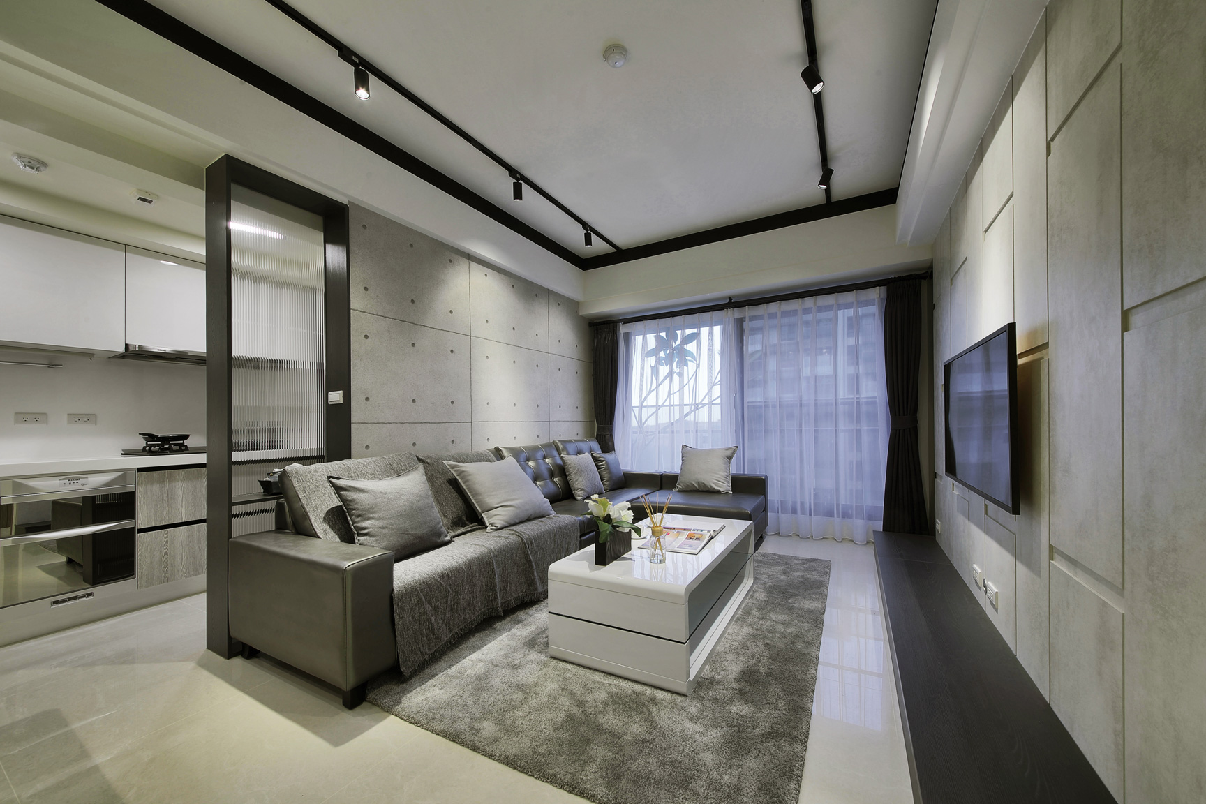 林口惠友新捷境室內空間客廳及廚房