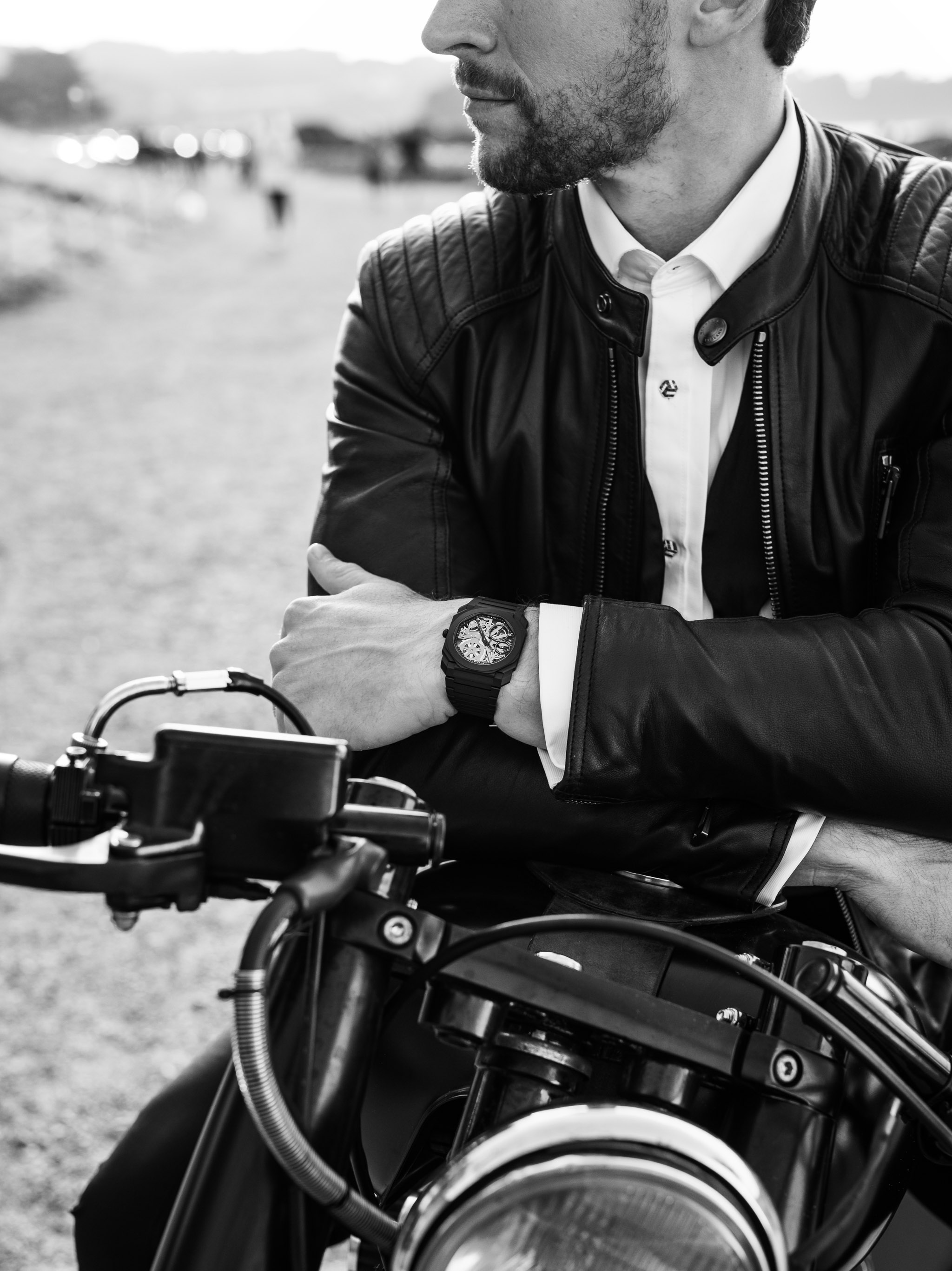 commercial photographer took photo of bell ross watches with motorcycle In San Francisco