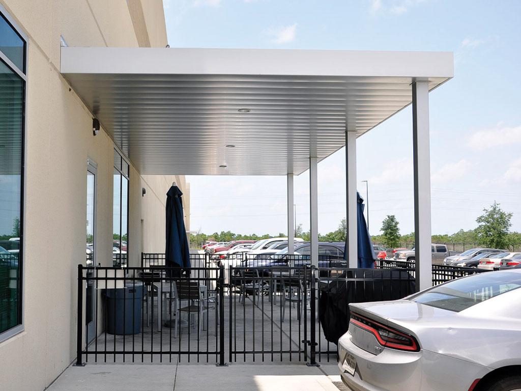 aluminum shelter canopy