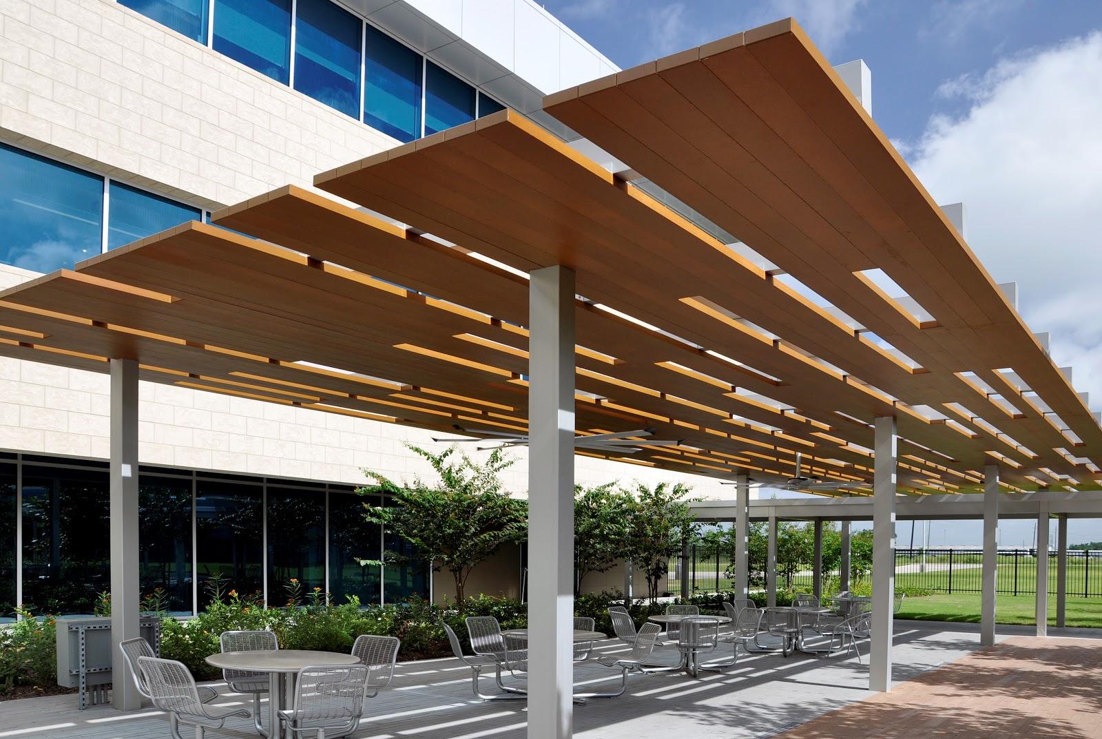avadek wood grain powder coat canopy in Tomball, TX