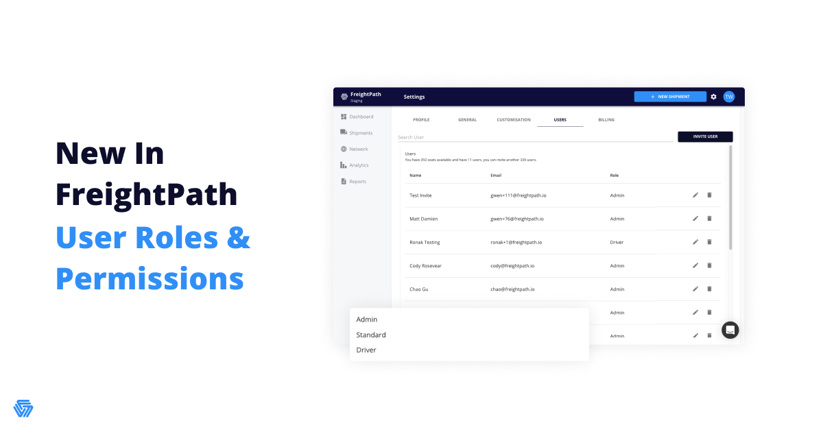 New In FreightPath: Advanced User Permissions and Roles