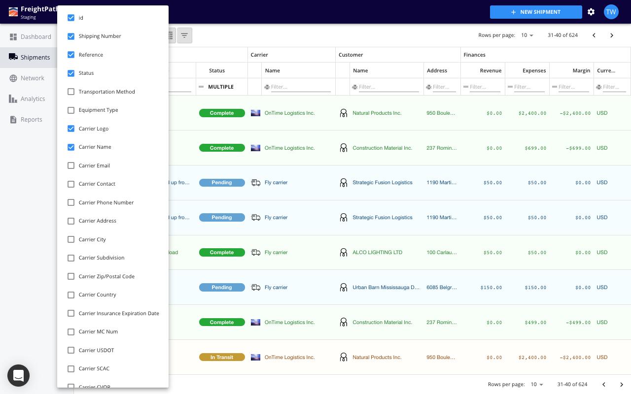 freightpath freight broker tms software screenshot 3pl software transportation management software