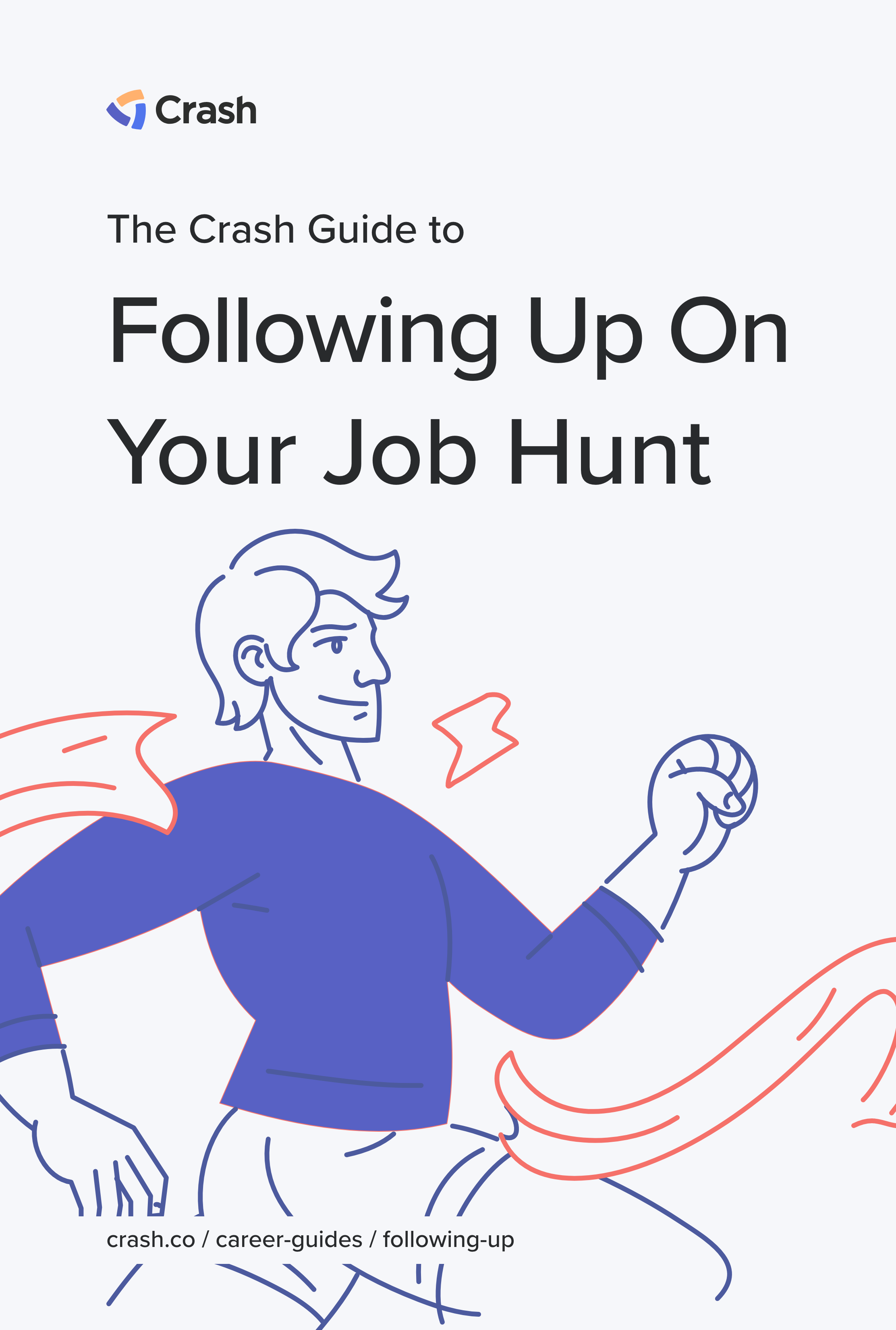 following up job hunt crash career guide cover image