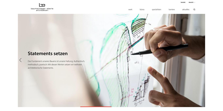 Webseite Baumschlager Eberle