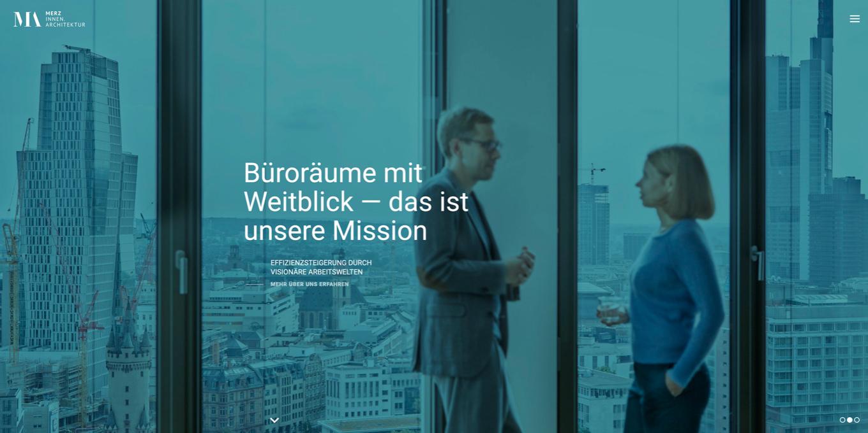Webseite Merz Innenarchitektur