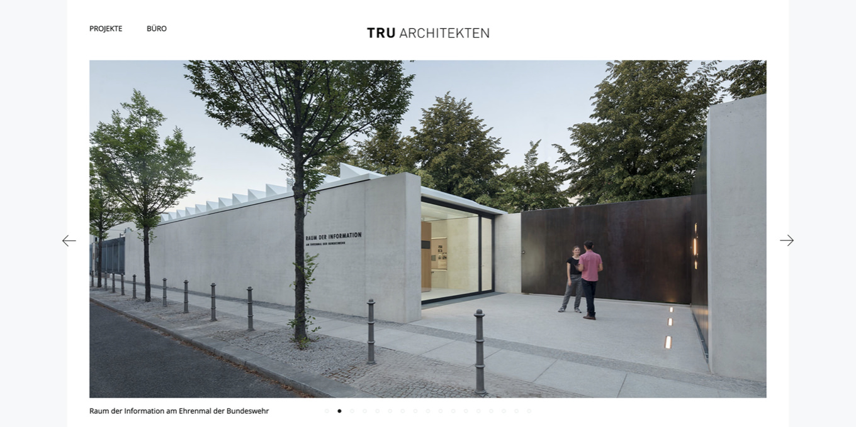 Webseite TRU Architekten