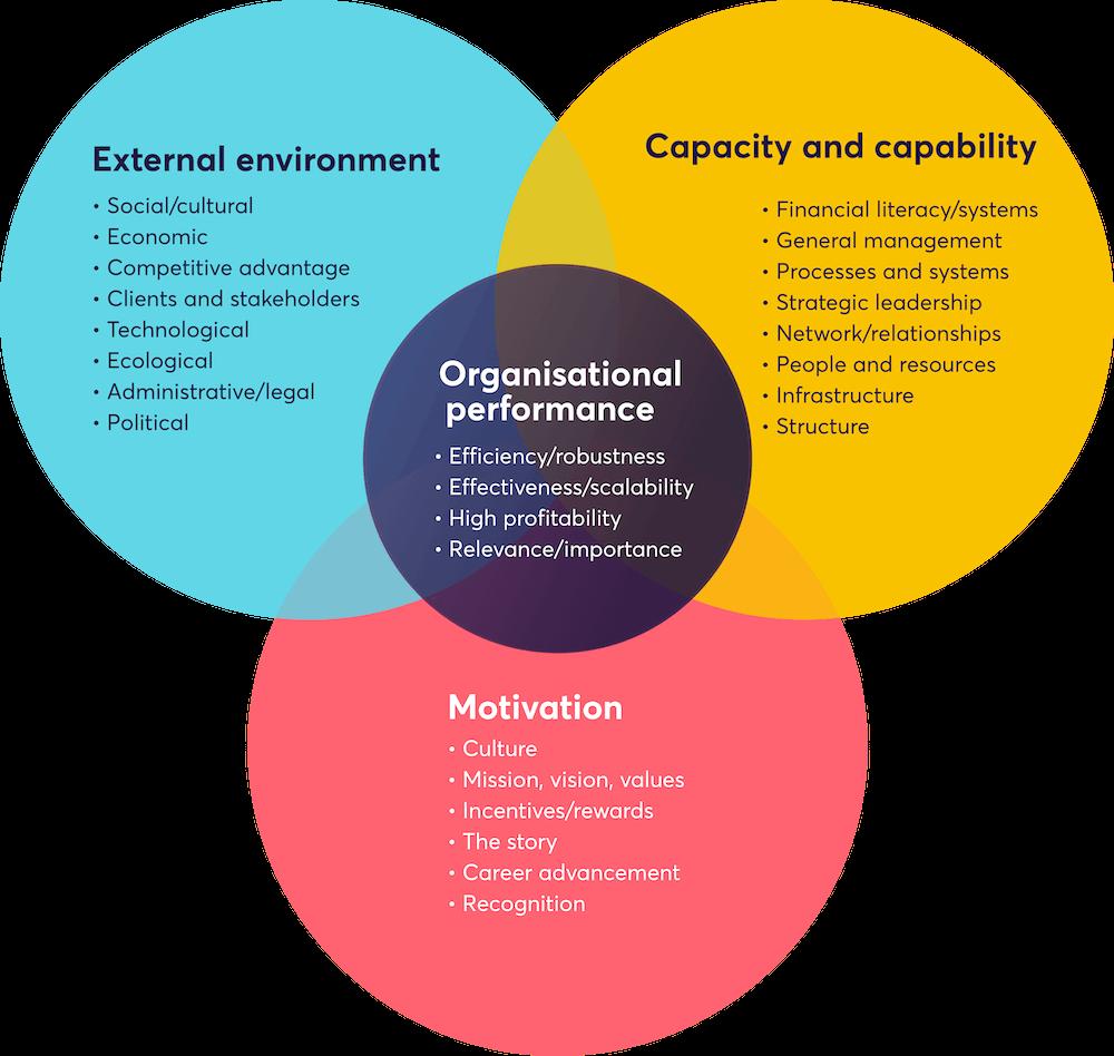 An organisational performance venn diagram