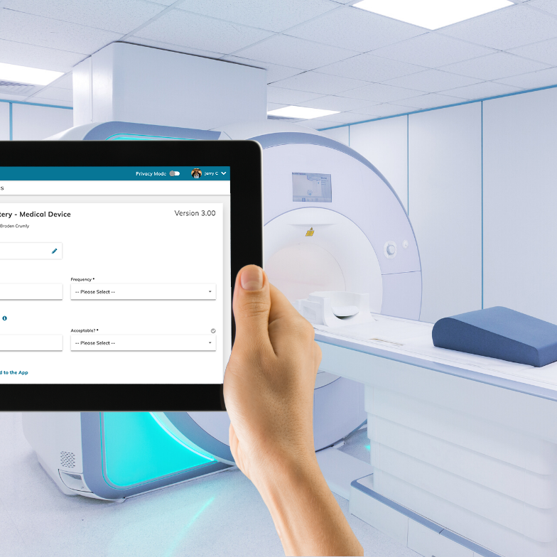 Paperless data entry for reviewing medical devices with PERFEQTA