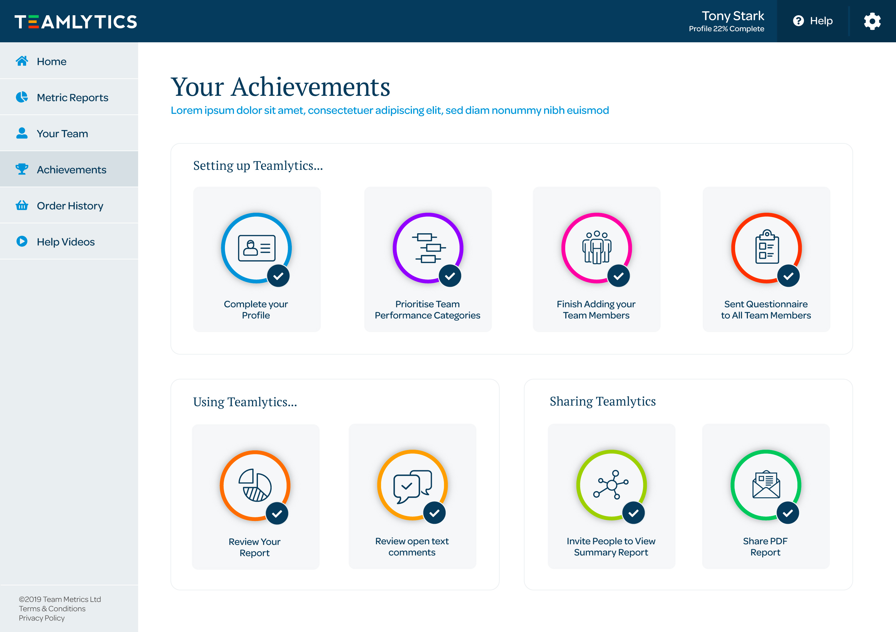 All achievements gained