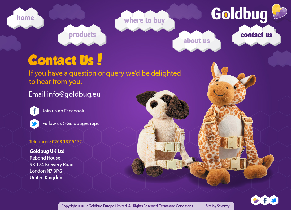 Contact details page