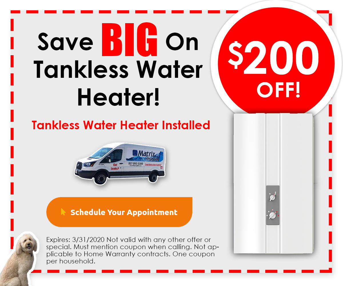 SAve $200 on Tankless Water Heaters Installed - Click for Details