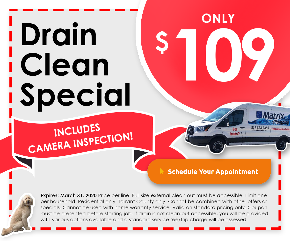 $79.00 Drain Clean Special Coupon - Click for Special Offer