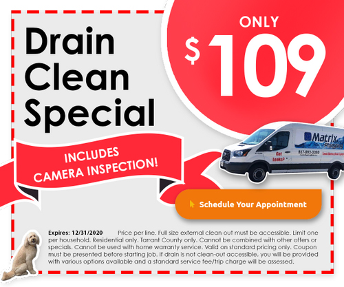 Matrix Plumbing Drain Cleaning Coupon
