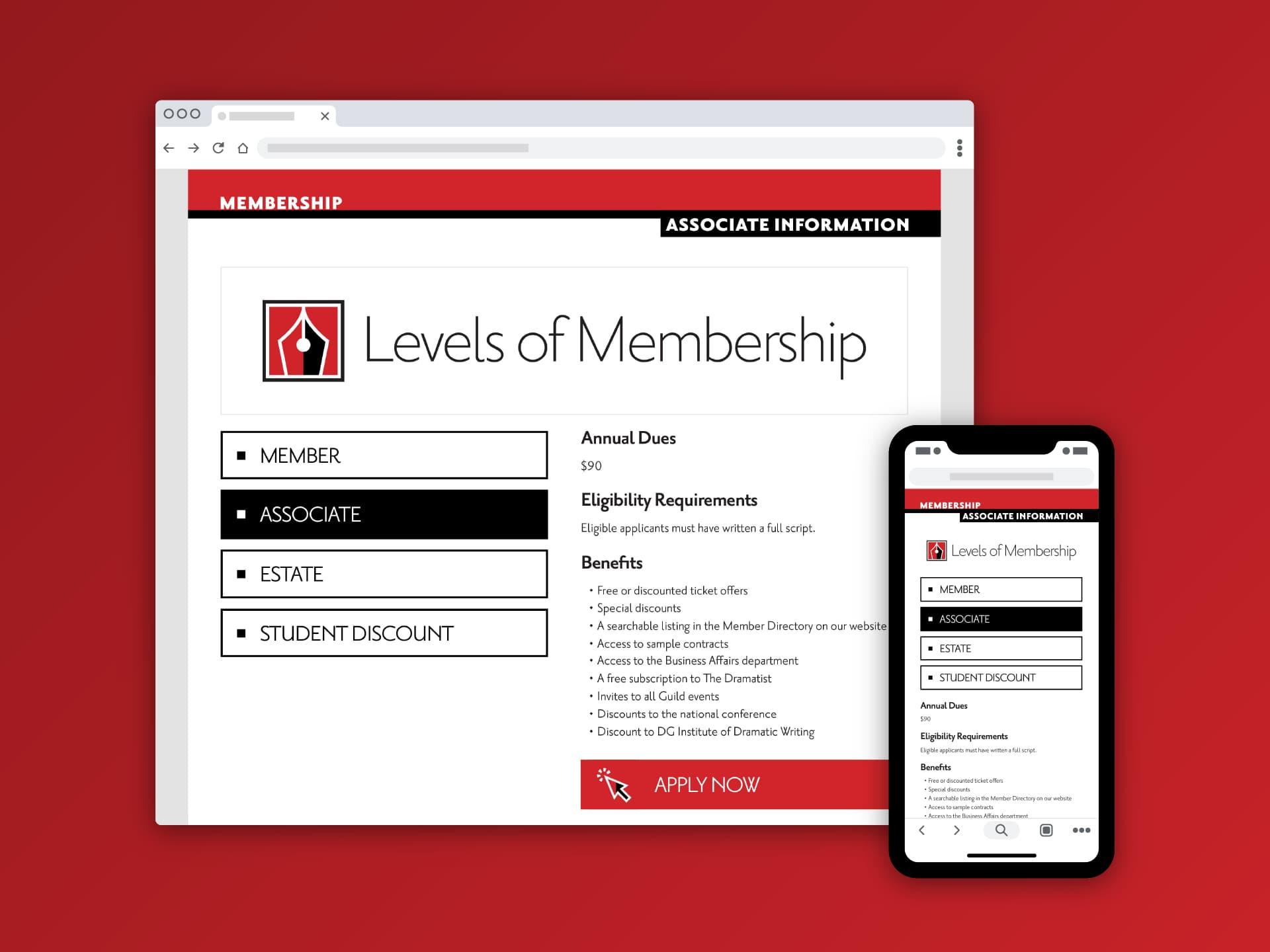 Levels of Membership (Associate)