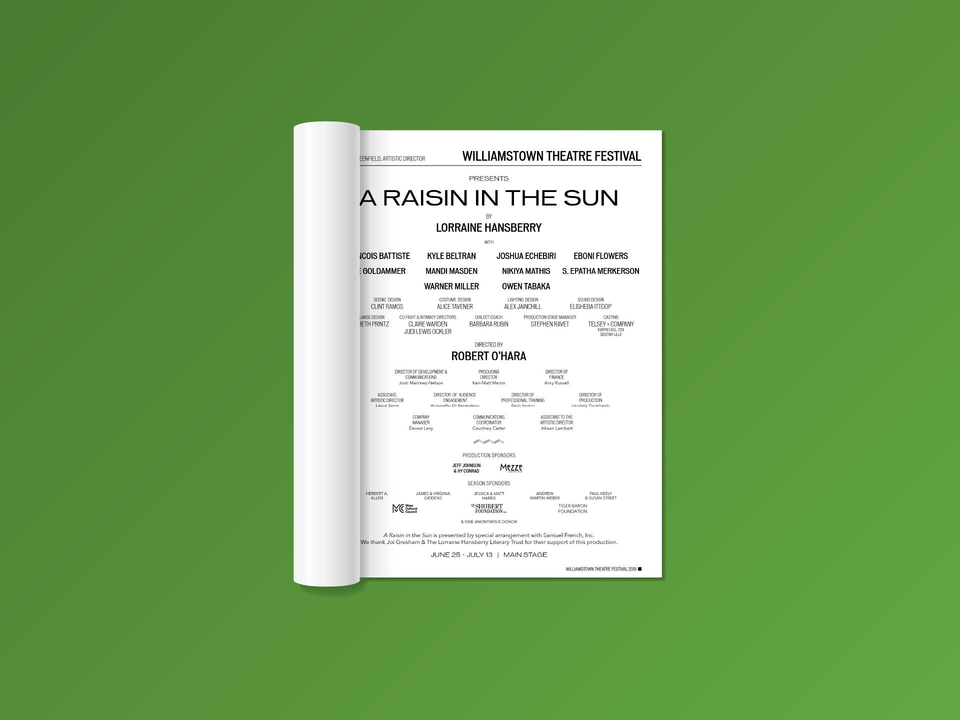 Title Page (A Raisin in the Sun)