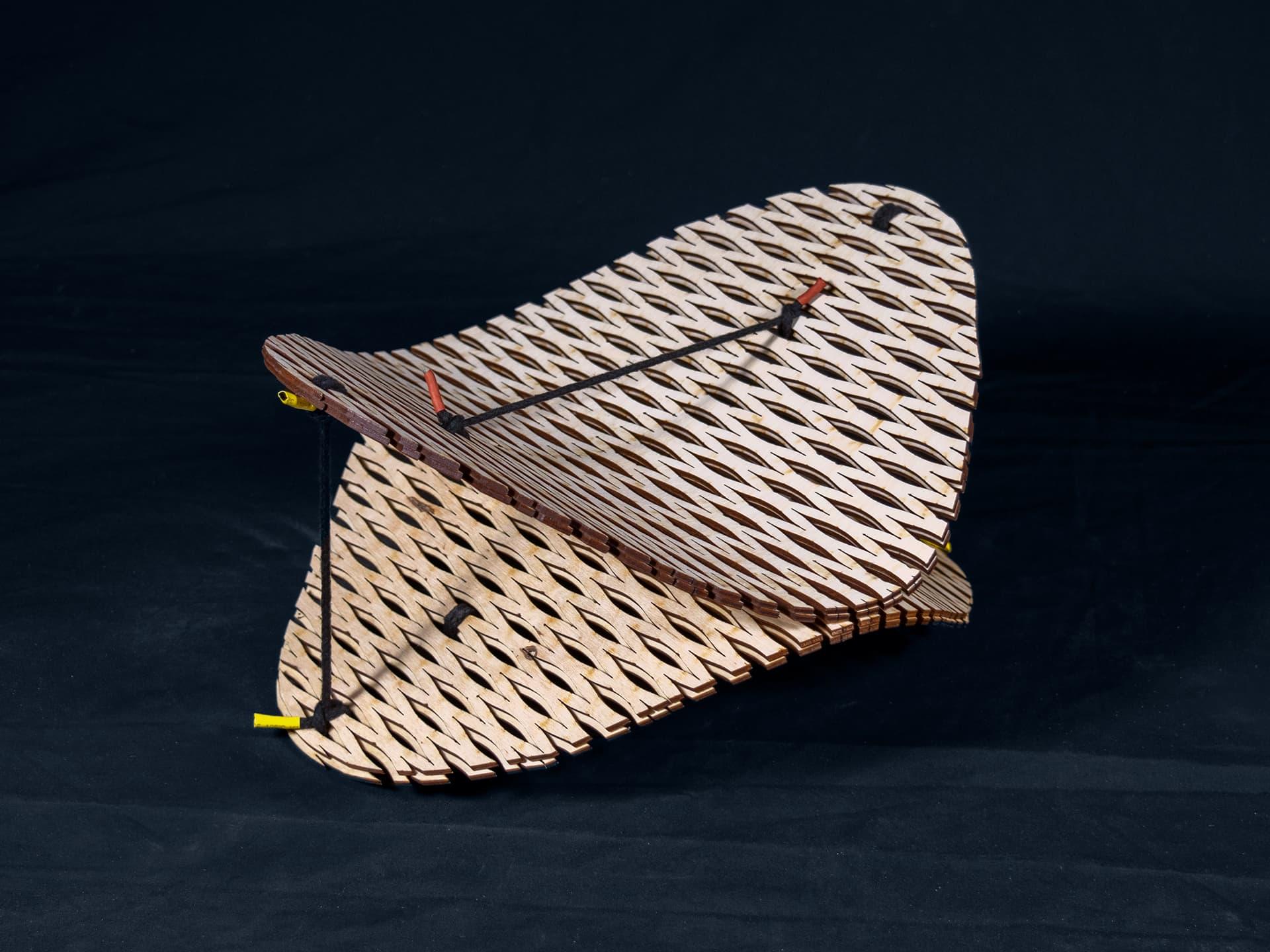 Kerfed Wood Sculpture