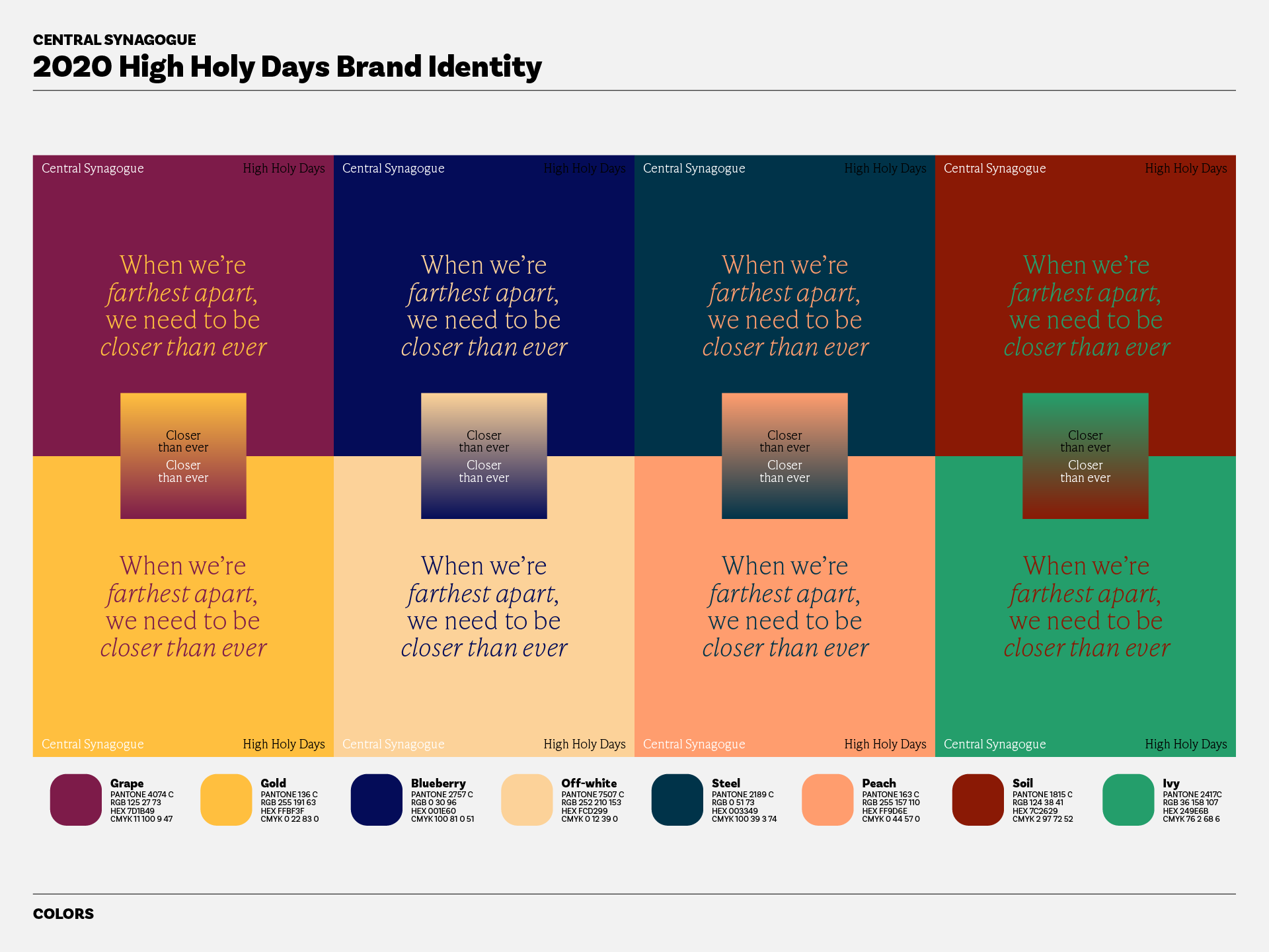 High Holy Days Colors