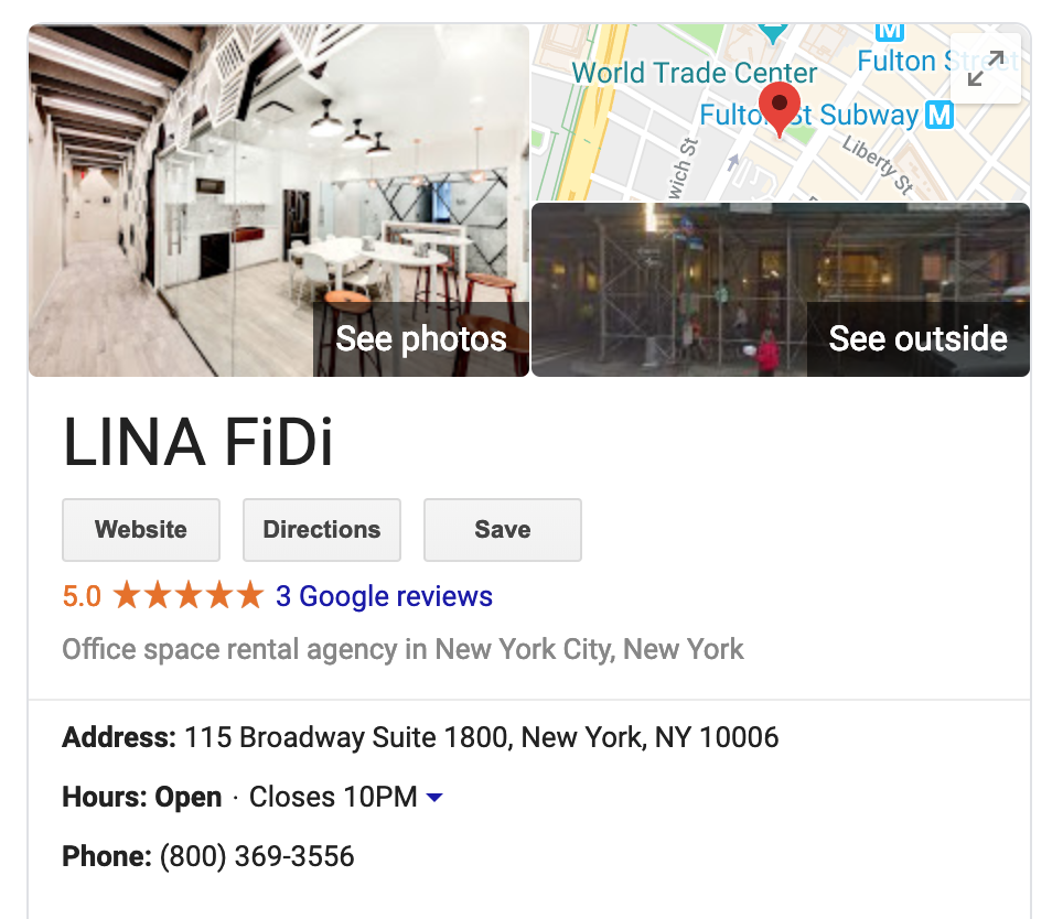 Lina FiDi search result page