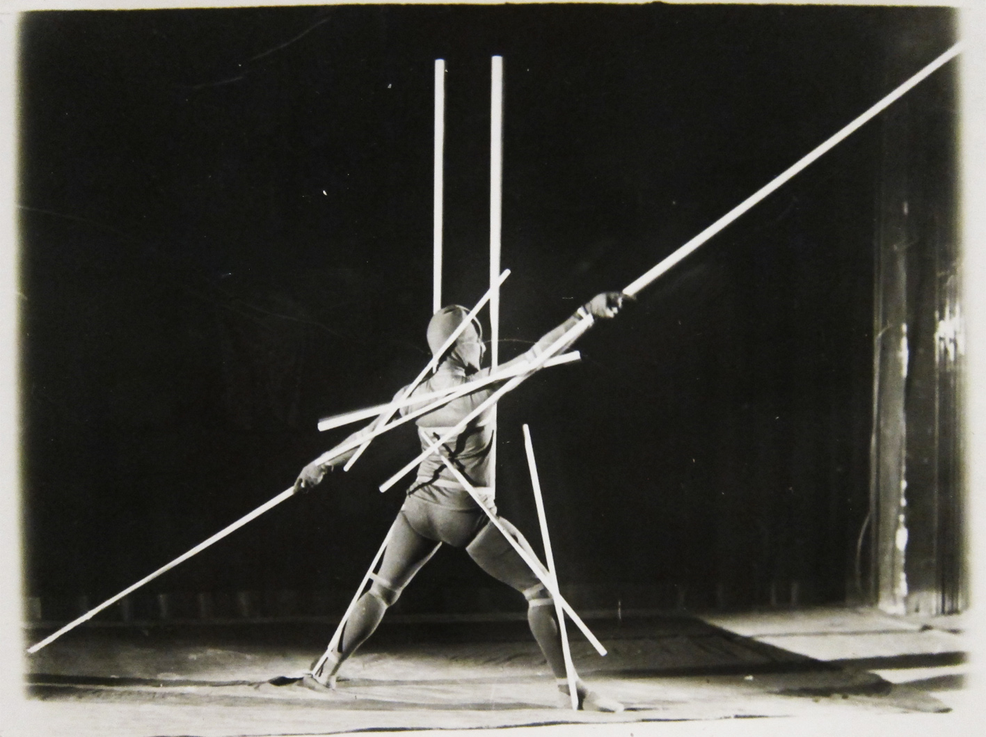 Bauhaus design. Dancer on a stage
