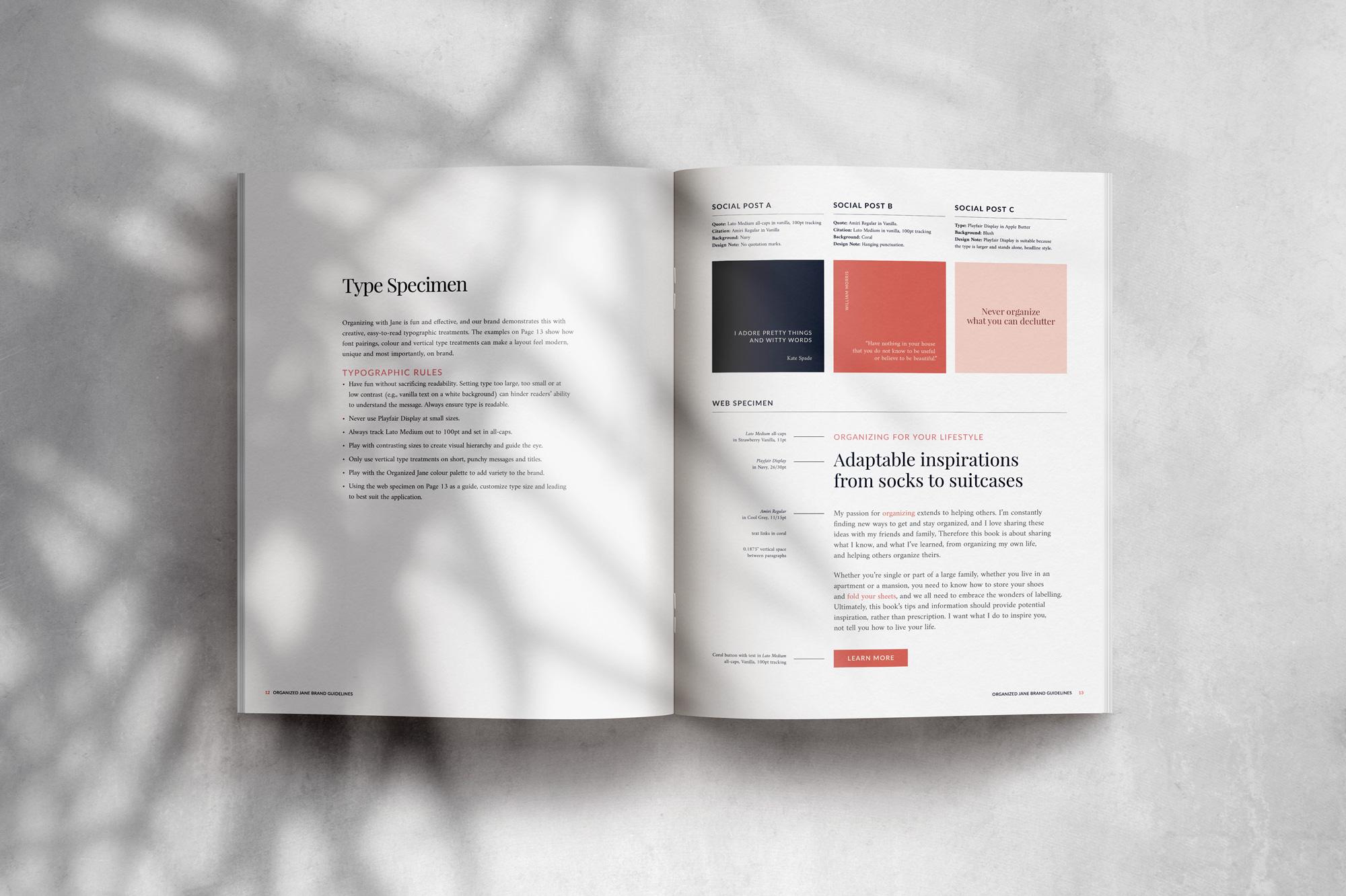 Organized Jane brand and web design by Jennifer Miranda.