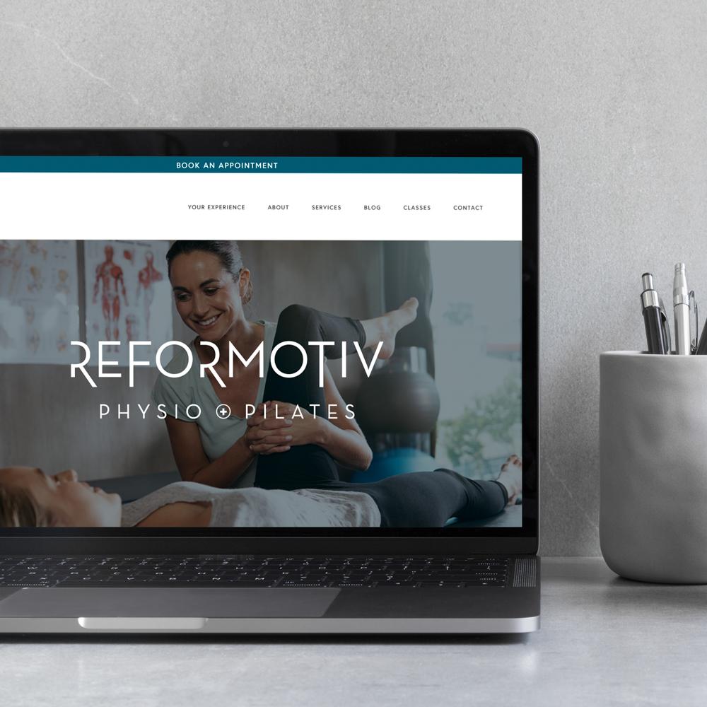 Reformotiv Physio + Pilates branding and web design by Jennifer Miranda and Flipside Creative.