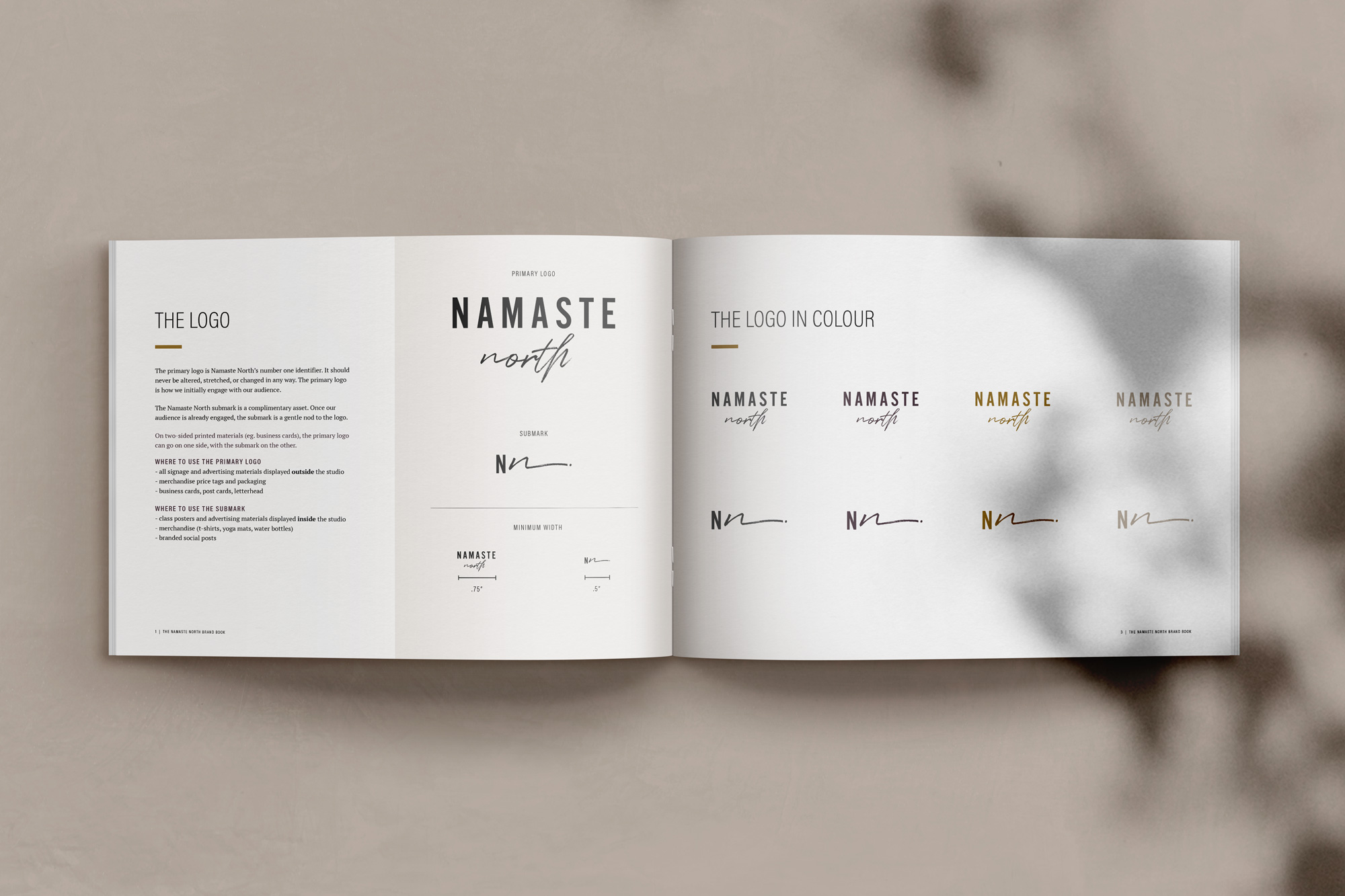 Namaste North branding, art direction, and photo direction by Jennifer Miranda and Flipside Creative