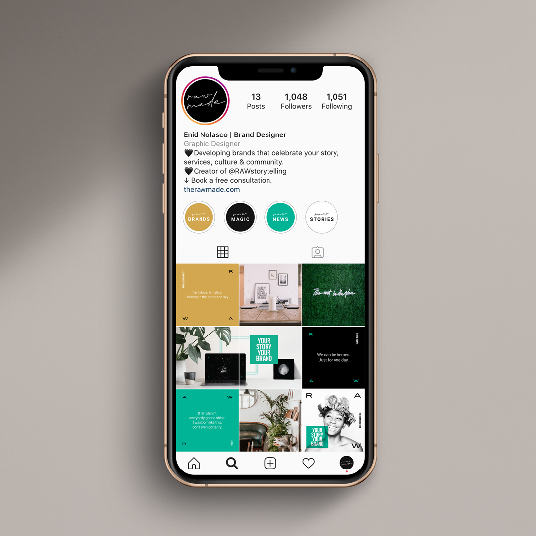 Instagram feed design by Jennifer Miranda Grigor.