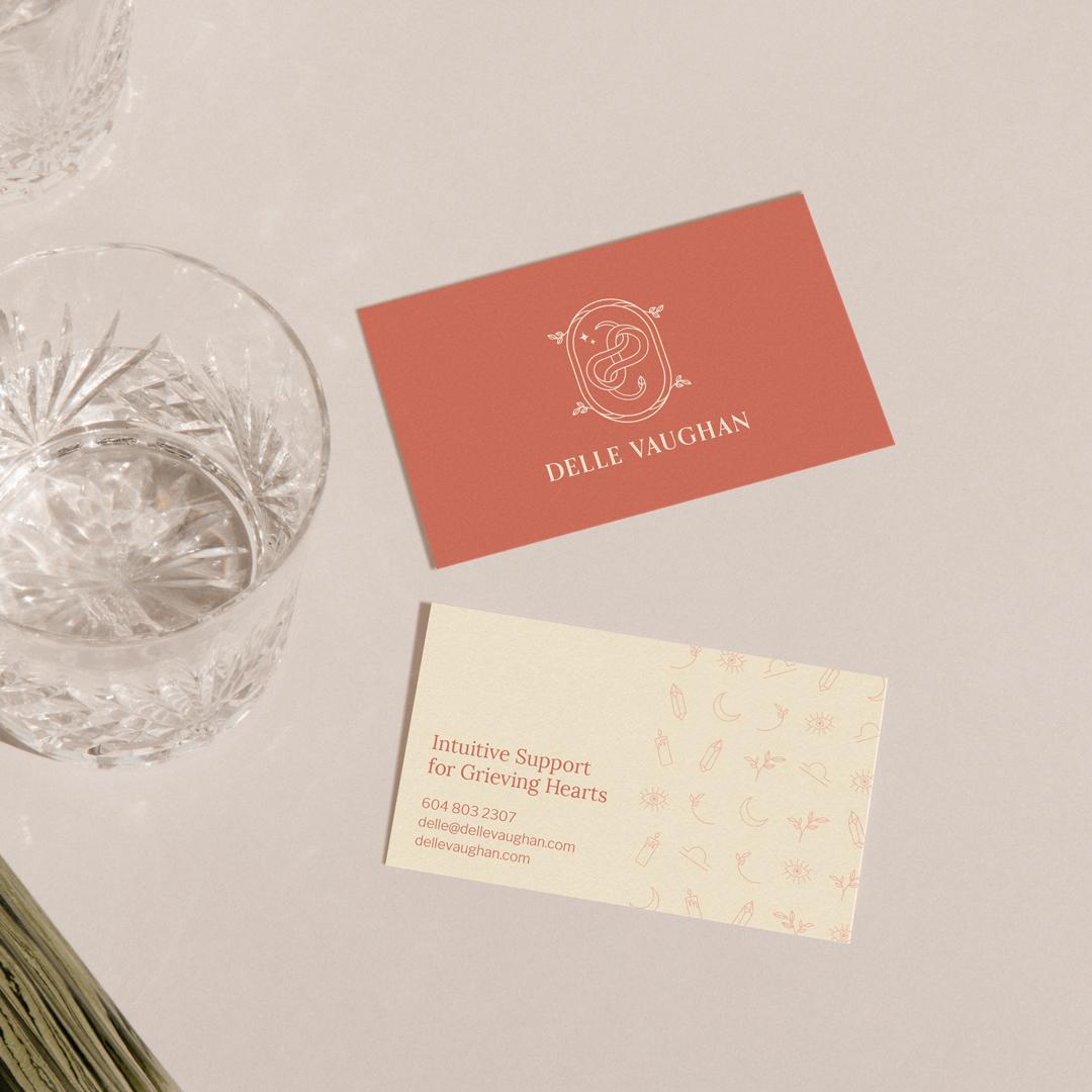 Business Card Design for Delle Vaughan.