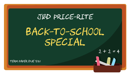 Back to School special logo