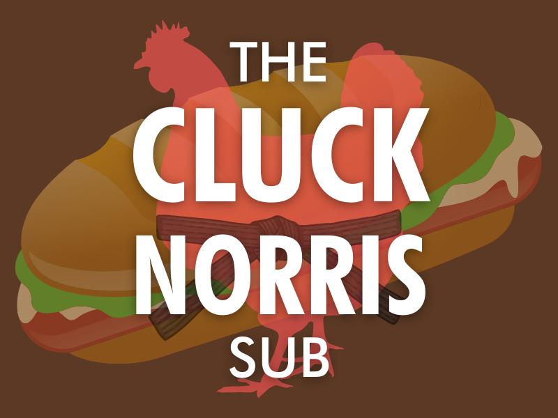 The Cluck Norris Sub logo