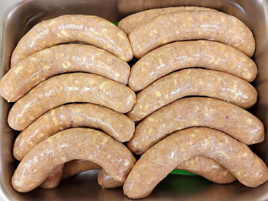 Chicken cordon bleu sausage links.