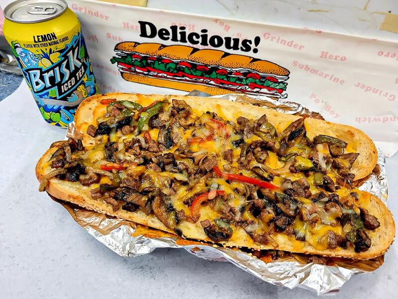 The Dougiorno steakhouse pizza sub.