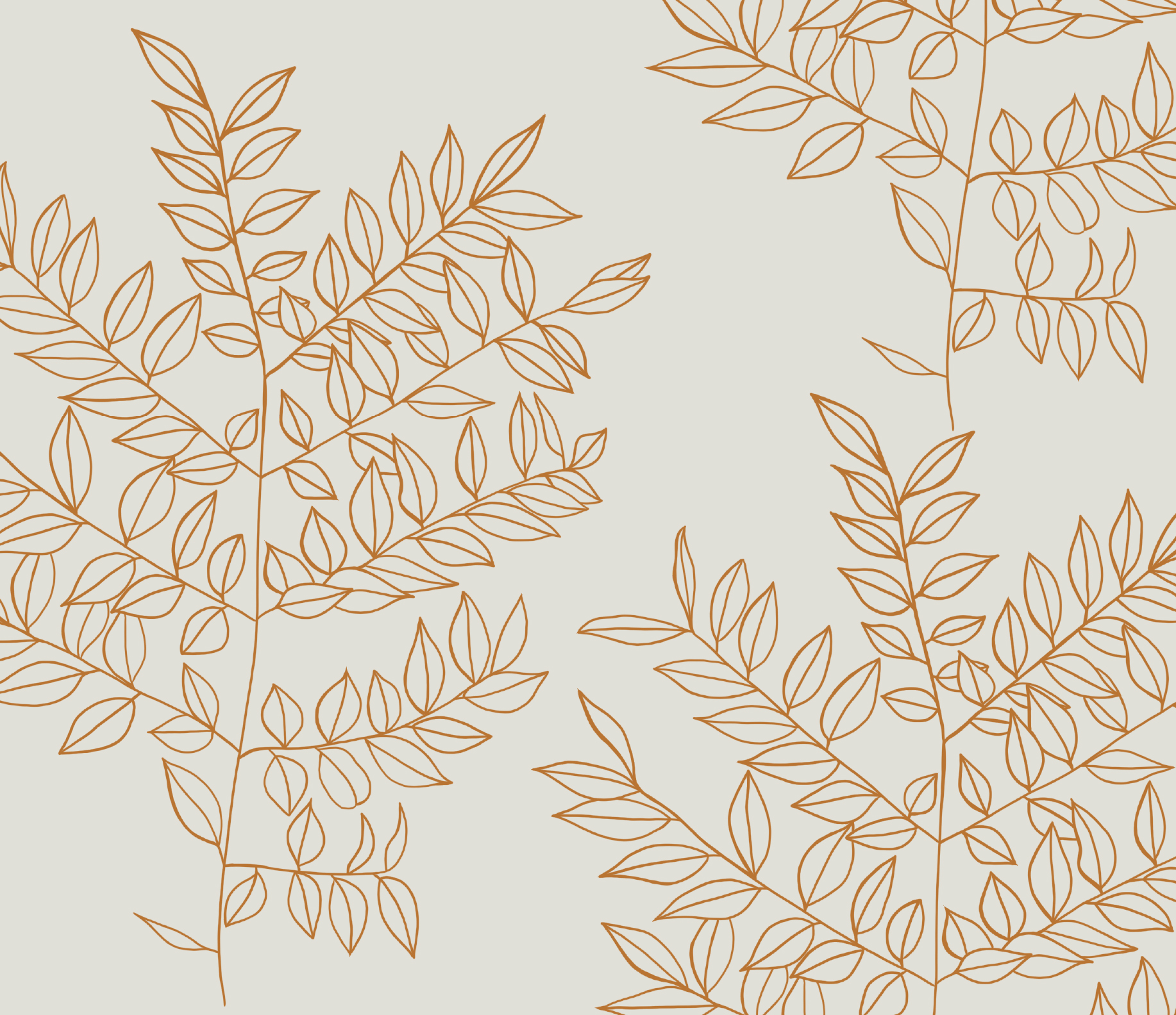 A floral pattern illustration for Brewpoint Coffee.
