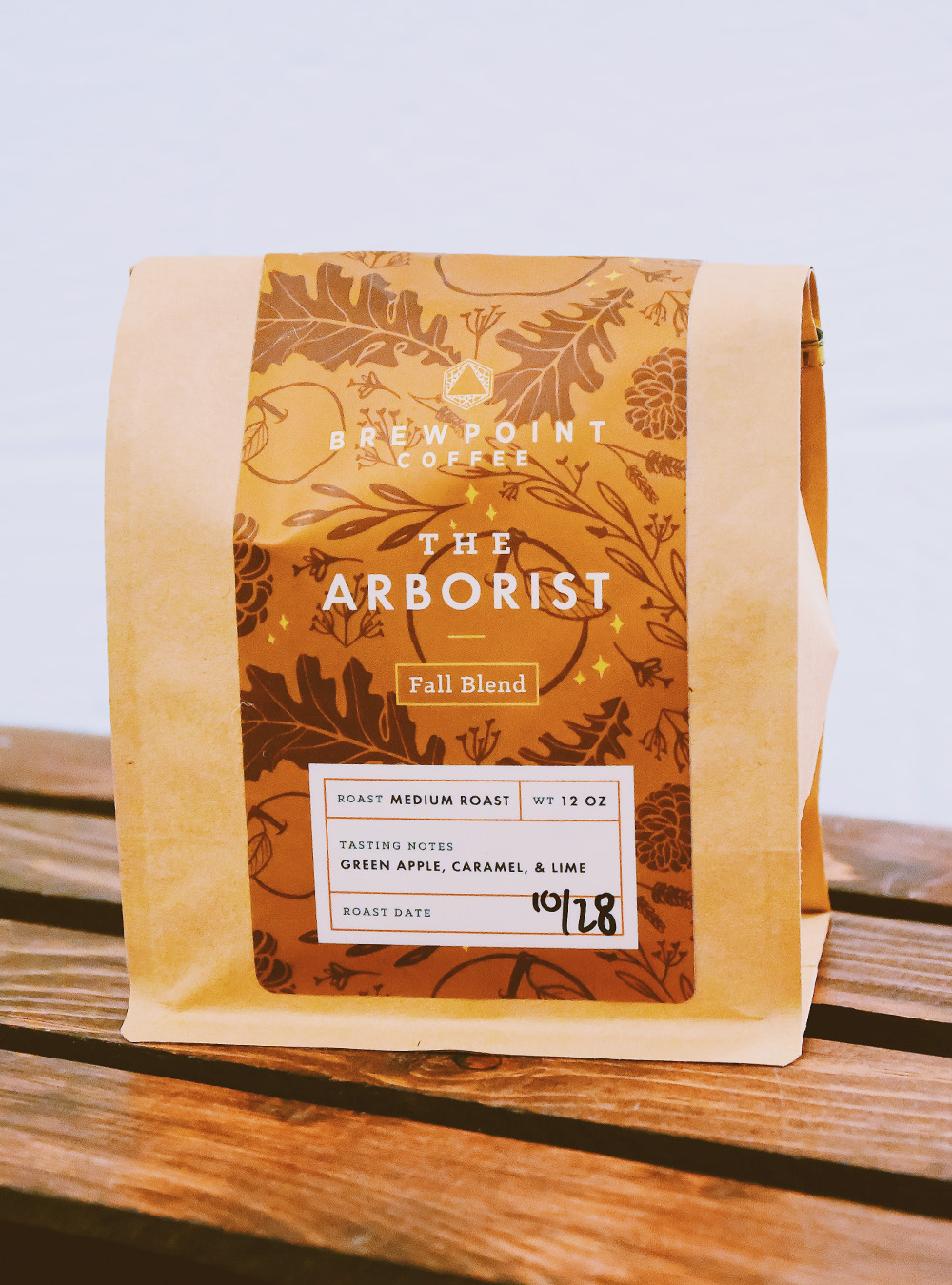 Packaging design for Brewpoint Coffee's fall blend –The Arborist.