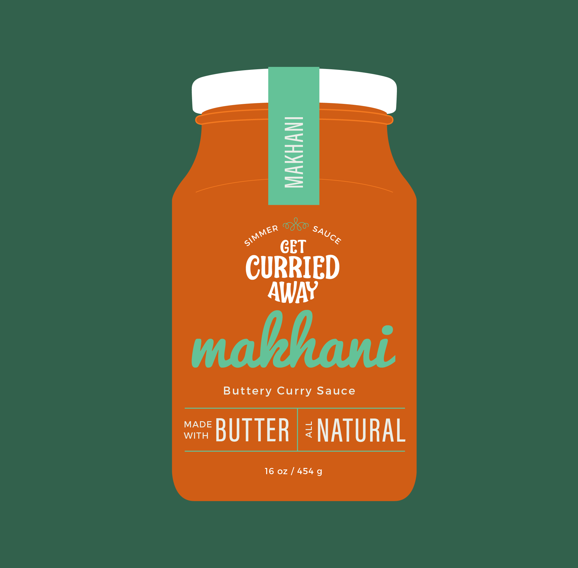 Packaging design for a brand of curry simmer sauce.