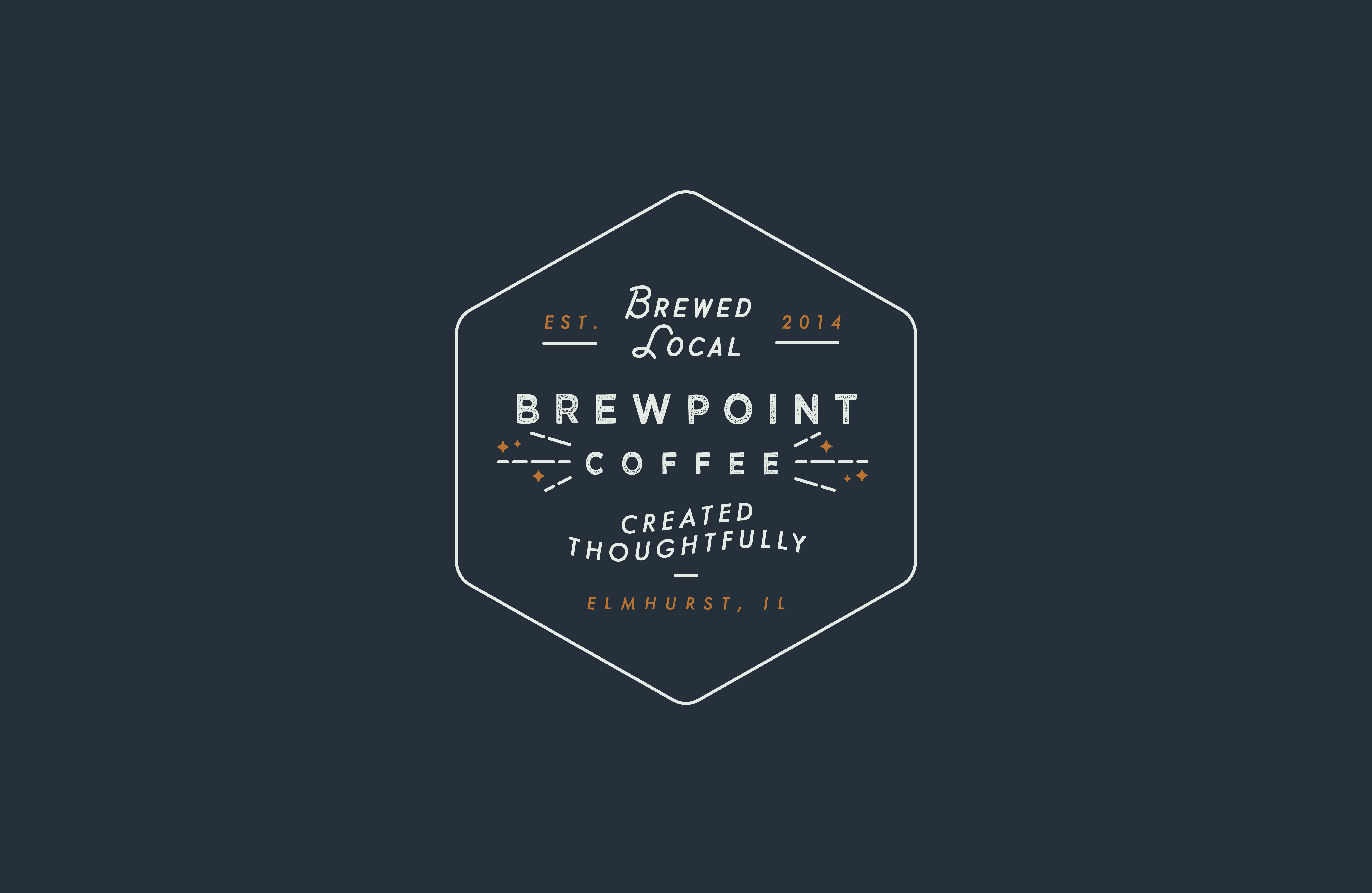 An alternate logo stamp design for Brewpoint Coffee.